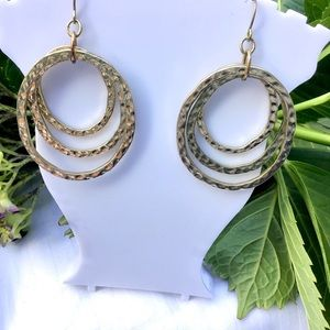 Gold Triple Hoop Earrings